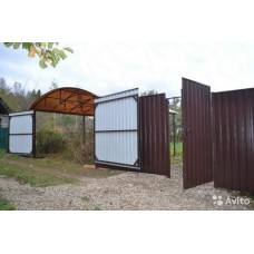 Ворота под профлист  3мX1.8м + 2 Столба