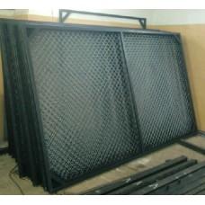 Секция Заборная в сетке рабица,  длина 2 м, высота 1.5м.