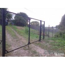 Ворота в сетке 3X1.5м  + 2 Столба с Петлями