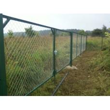 Секция Заборная в сетке рабица, длина 2 м, высота 1.8м.